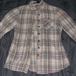 Blue/brown Plaid flannel